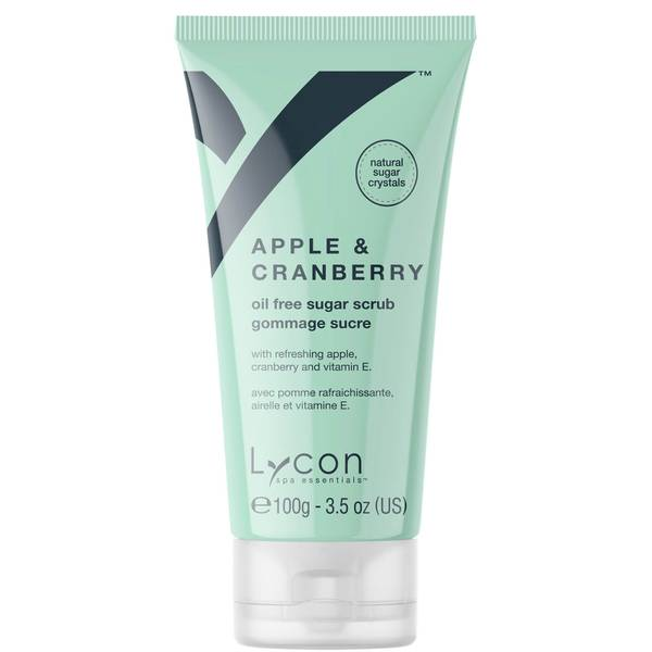 Lycon Oil Free Sugar Scrub - Apple And Cranberry 100g