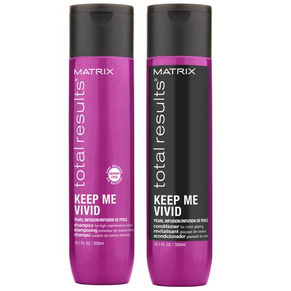 Matrix Keep Me Vivid Colour Protecting Shampoo and Conditioner Duo Set For High Maintenance Coloured Hair 300ml