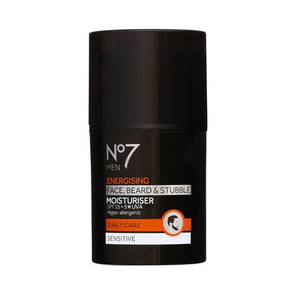 Men Energising Face, Beard & Stubble Moisturiser SPF15 50ml