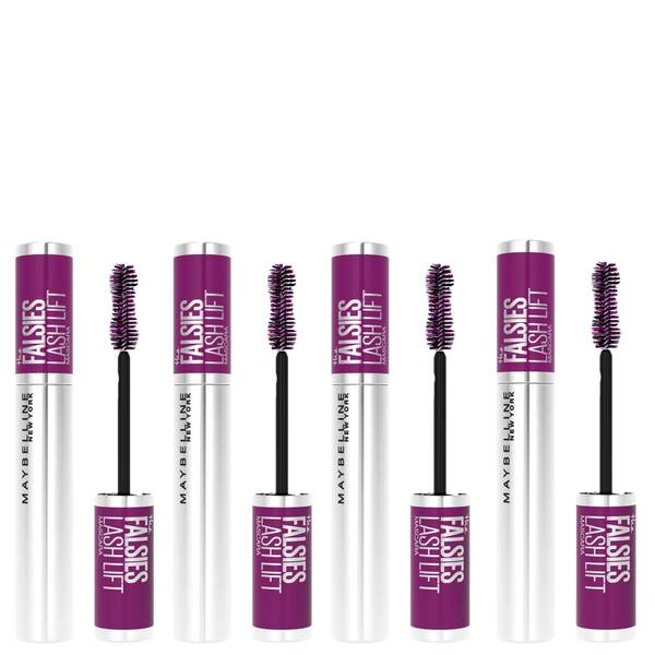 Maybelline The Falsies Instant Lash Lift Look Lengthening Volumising Mascara - 01 Black (Pack of 4)