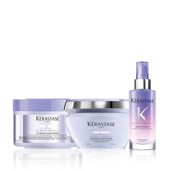 Kérastase Blond Absolu Restoring Shampoo, Mask and Overnight Serum Trio