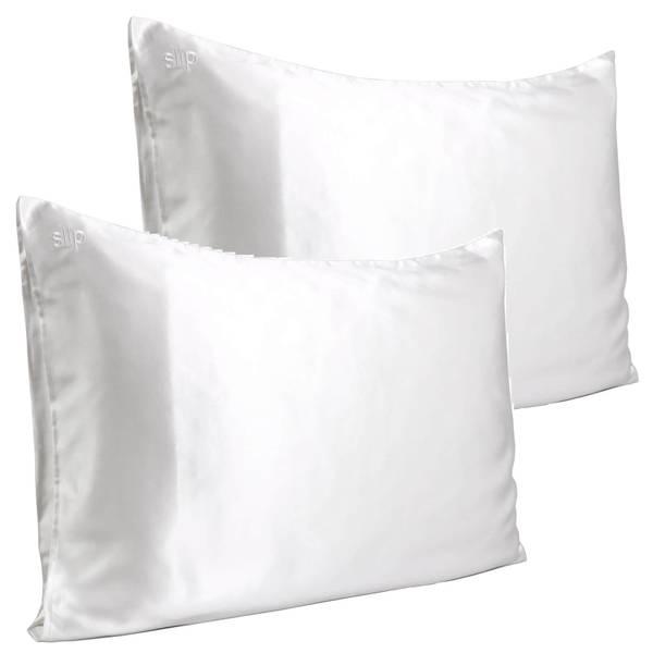 Slip Pure Silk Pillowcase Duo - Queen - White