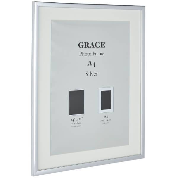 Grace Picture Frame A4 Silver Homebase, Silver Mirror Frame A4