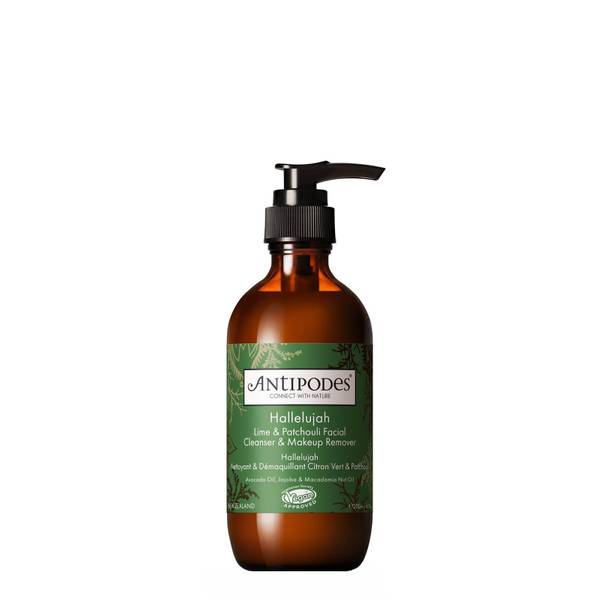 Antipodes Hallelujah Lime and Patchouli Hydrating Cleanser and Makeup Remover 200ml