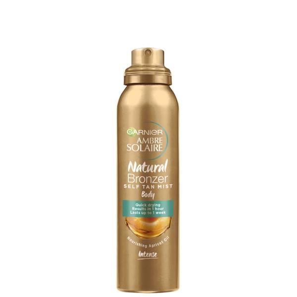 Ambre Solaire Natural Bronzer Quick Drying Self Tan Body Mist Dark 150ml