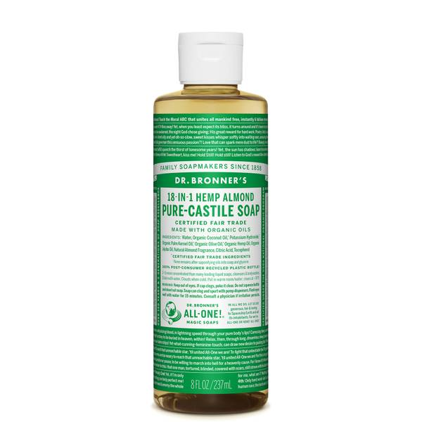 Dr Bronner's Pure Castile Liquid Soap Almond 237ml
