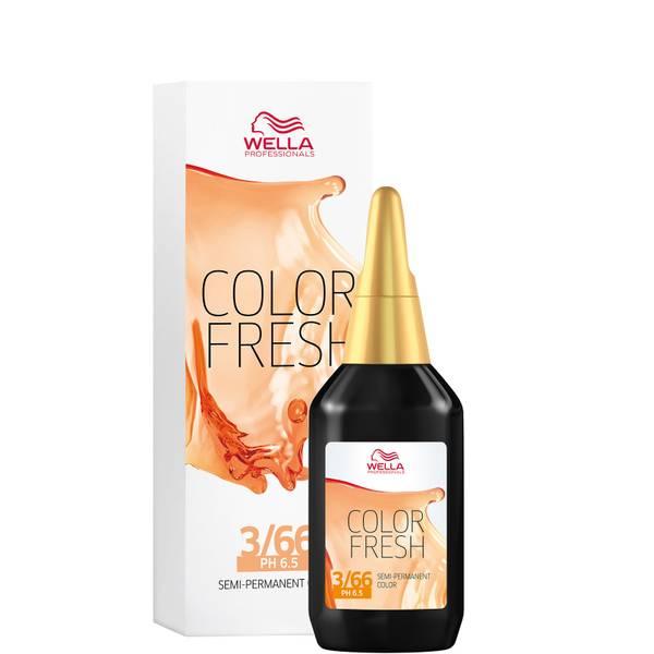 Wella Professionals Color Fresh Semi-Permanent Colour - 3/66 Dark Intense Violet Brown 75ml