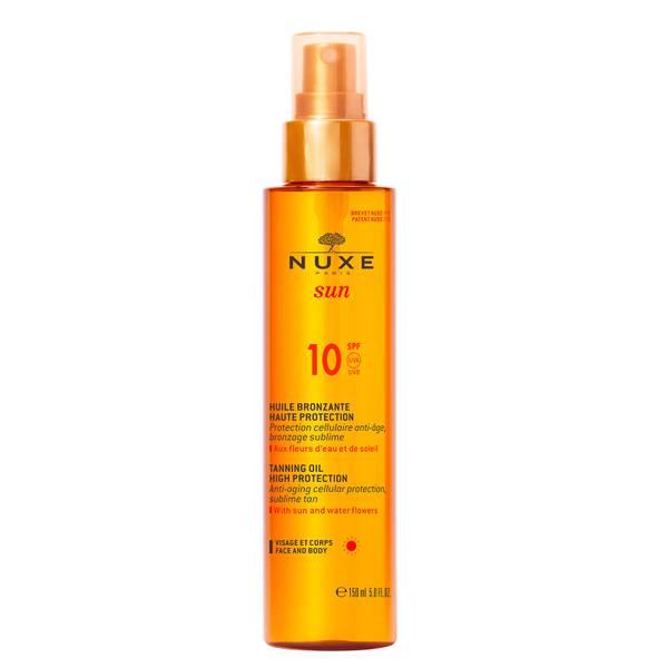 Huile Bronzante Faible Protection SPF 10, NUXE Sun 150 ml