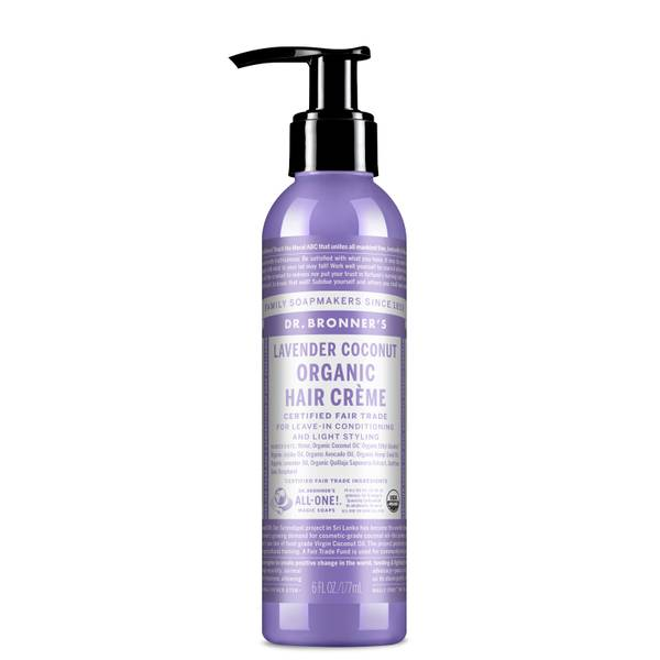 Dr. Bronner's Organic Lavender Coconut Organic Hair Crème 177ml