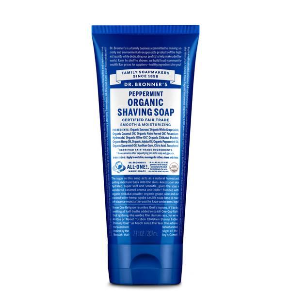 Dr. Bronner Organic Peppermint Shaving Gel (207ml)