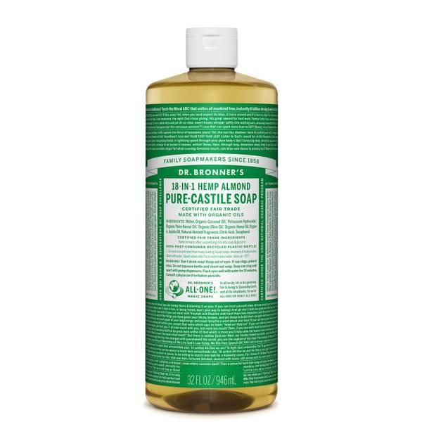 Dr Bronner's Pure Castile Liquid Soap Almond 946ml