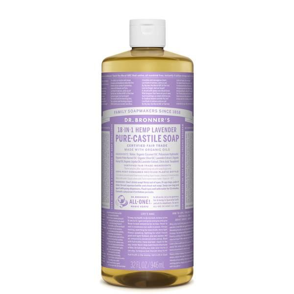 Dr Bronner's Pure Castile Liquid Soap Lavender 946ml