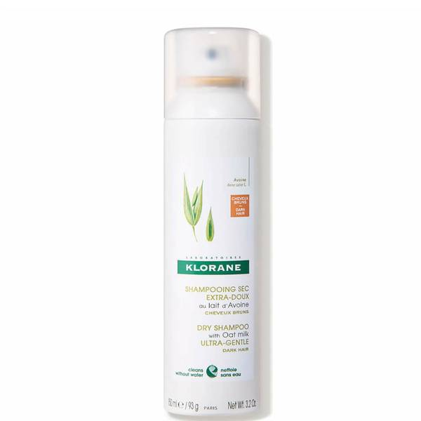 Klorane Dry Shampoo with Oat Milk with Natural Tint - For Dark Hair 3.2 oz.