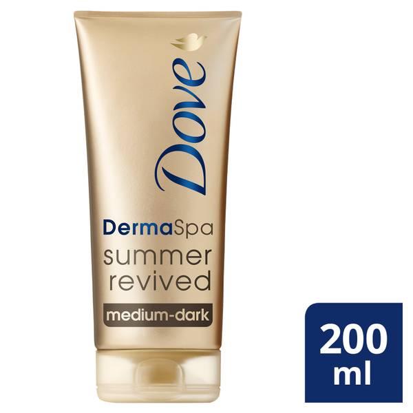 Dove DermaSpa Summer Revived Body Lotion Medium to Dark Skin (200ml)
