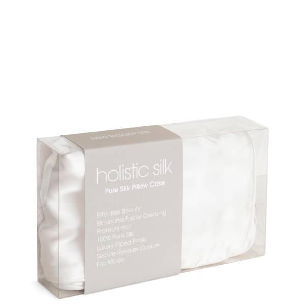 Taie d'oreiller en soie anti-âge rajeunissanteHolistic Silk-Blanc