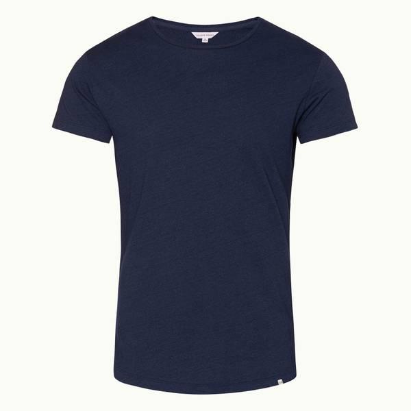 Ob-T 테일러드 핏 크루넥 티셔츠 데님