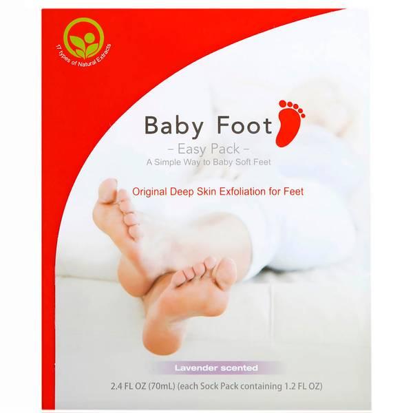 Baby Foot Easy Pack - Original Deep Skin Exfoliation for Feet (1 pair)