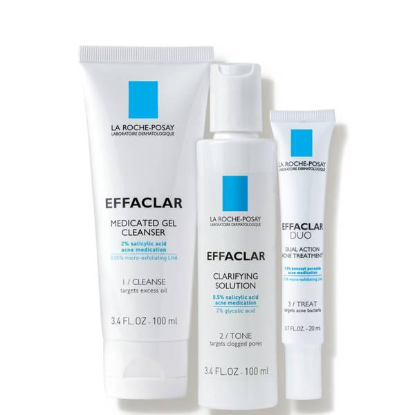 La Roche-Posay Effaclar Dermatological Acne Treatment System 2-Month Supply (3 piece)