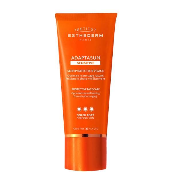 Loción facial para piel sensible Adaptasun para exposición solar alta deInstitut Esthederm de 50 ml