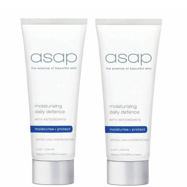 2x asap moisturising daily defence SPF50+ 100ml