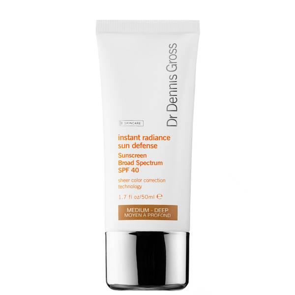 Dr Dennis Gross Skincare Instant Radiance Sun Defense Sunscreen Broad Spectrum SPF 40 - Medium-Deep 50ml