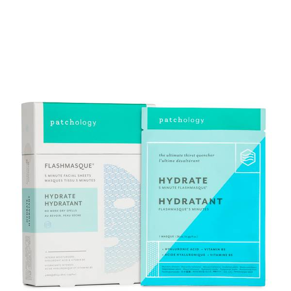 Patchology FlashMasque Facial Sheets - Hydrate (4 count)