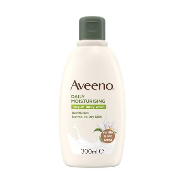 Aveeno Daily Moisturising Yogurt Body Wash Vanilla & Oat Scented 300ml