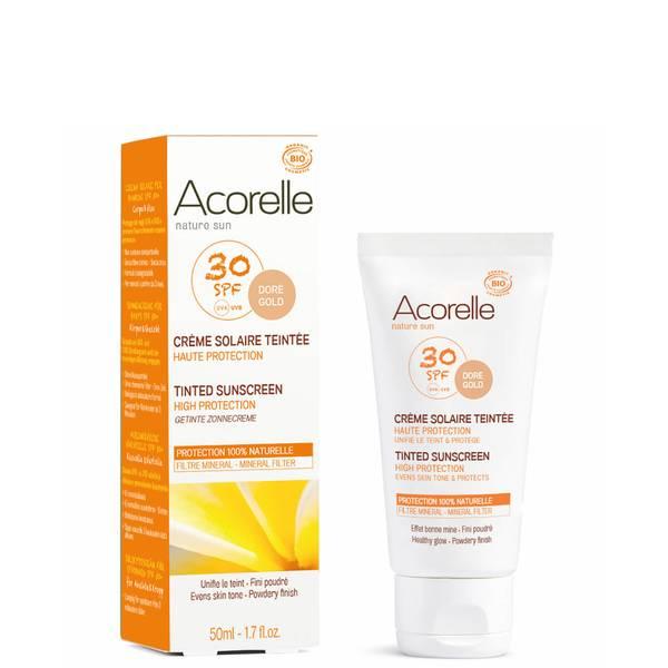 Crème solaire teintée bio SPF30 Acorelle – Doré 50ml