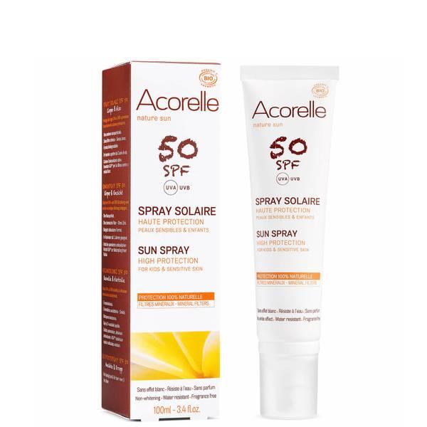 Spray solaire bio SPF50 pour enfants Acorelle 100ml