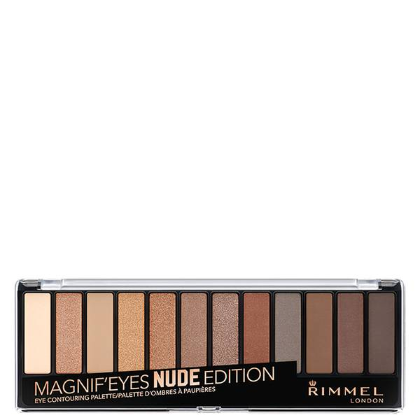 Rimmel 12 Pan Eyeshadow Palette - Nude Edition(림멜 12 팬 아이섀도우 팔레트 - 누드 에디션 14g)