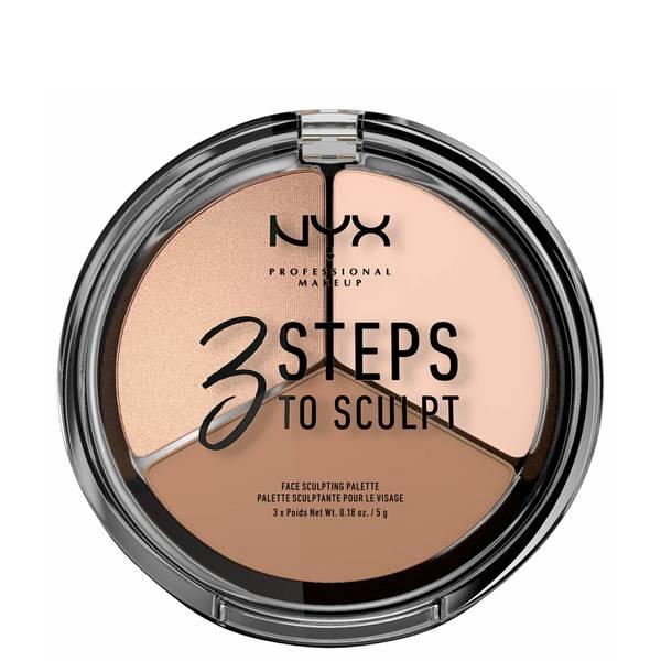 NYX Professional Makeup 3 Steps to Sculpt Face Sculpting Palette - Fair