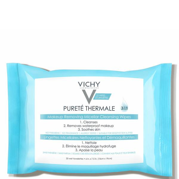 Vichy Purete Thermale 3-in-1 Micellar Wipes (25 count)