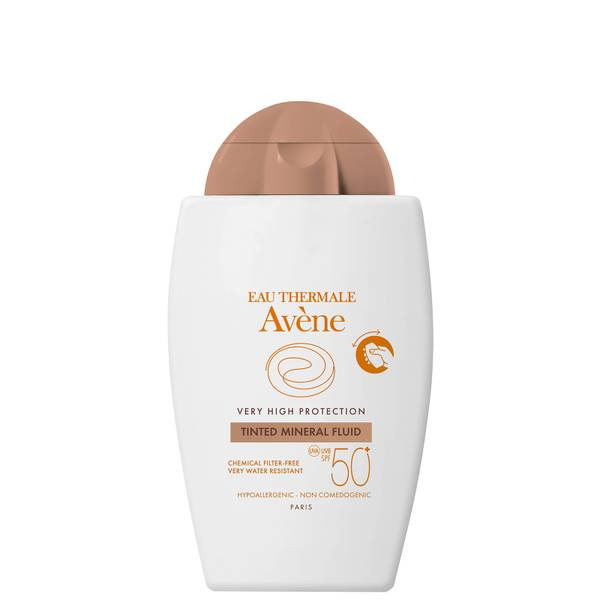 Avène Very High Protection Tinted Mineral Fluid SPF50+ Sun Cream for Intolerant Skin 40ml