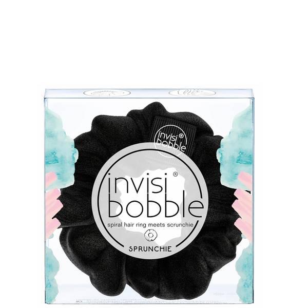 Scrunchie com Anel de Cabelo Sprunchie Spiral - True Black da invisibobble