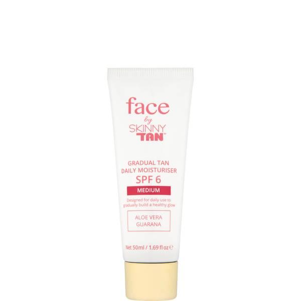 Face by Skinny Tan Gradual Tan Daily Moisturiser Medium 50ml