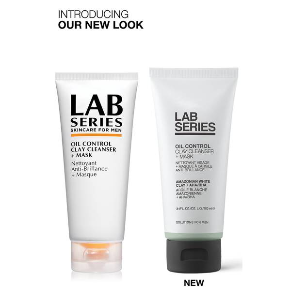 Lab Series Skincare for Men Oil Control Clay Cleanser and Mask 100 ml