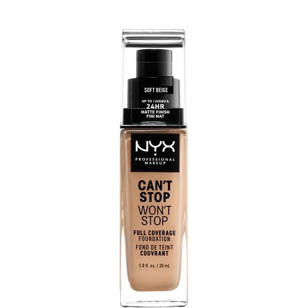 NYX Professional Makeup Can't Stop Won't Stop 24 Hour Foundation(NYX 프로페셔널 메이크업 캔트 스탑 원트 스탑 24아워 파운데이션, 다양한 색상)