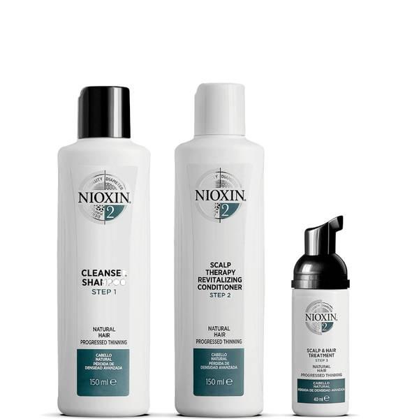 NIOXIN 3-delat system 2-provningskit för naturligt hår med avancerad gallring