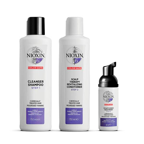 NIOXIN 3-Part System 6 Trial Kit for Chemically Treated Hair with Progressed Thinning