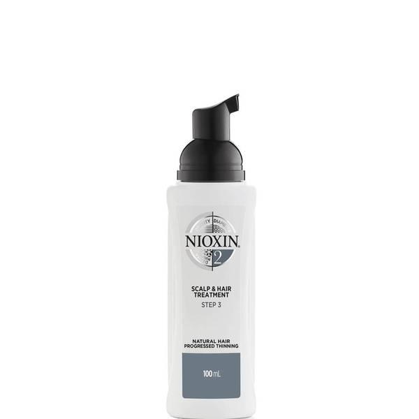 NIOXIN 3-dílný systém 2 pro ošetření pokožky hlavy a vlasů pro přírodní vlasy s postupným řídnutím 100ml