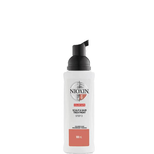 NIOXIN 3-dílný systém 4 pro ošetření vlasové pokožky a vlasů pro barvené vlasy s postupným řídnutím 100ml