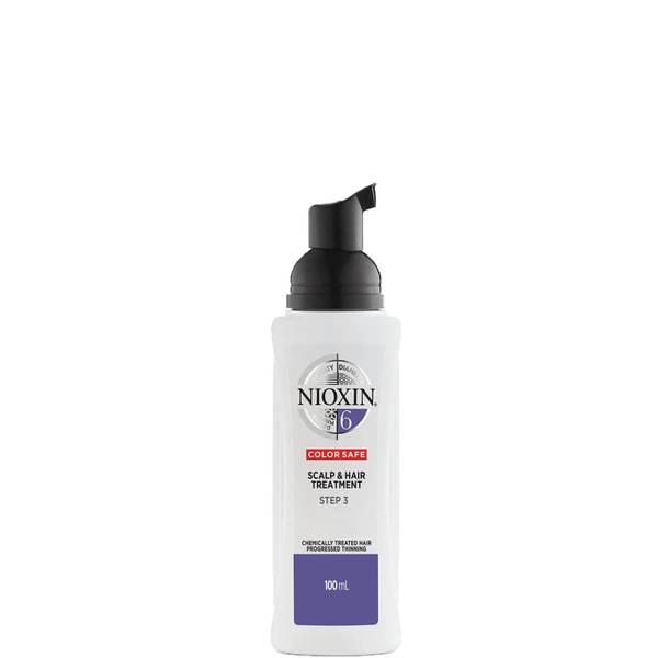 Soin Cuir Chevelu et Cheveux Système6 3Étapes pour Cheveux Traités Chimiquement avec Perte Régulière des Cheveux NIOXIN 100ml