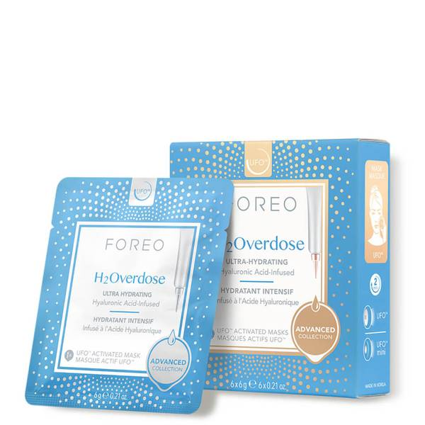 FOREO H2Overdose UFO/UFO Mini Ultra Hydrating Face Mask for Dry Skin (6 Pack)