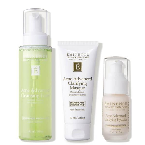 Eminence Organic Skin Care Acne Advanced 3-Step Treatment System Kit