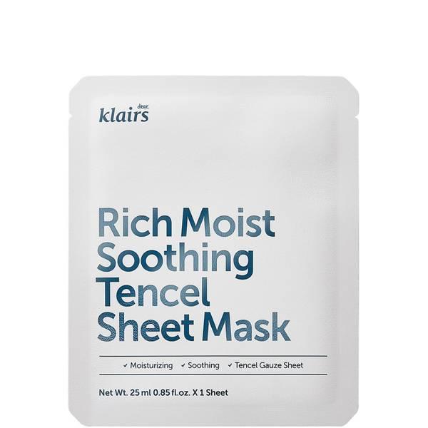 Тканевая маска Dear, Klairs Rich Moist Soothing Tencel Sheet Mask 25ml