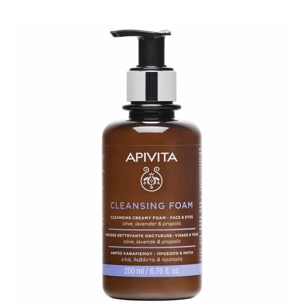 Limpiador espumoso para rostro y ojos de APIVITA 200 ml