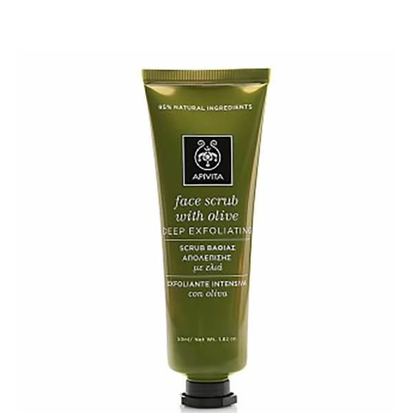 APIVITA Face Scrub for Deep Exfoliation - Olive 50ml