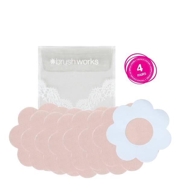 brushworks Satin Petal Nipple Covers -nännisuojat