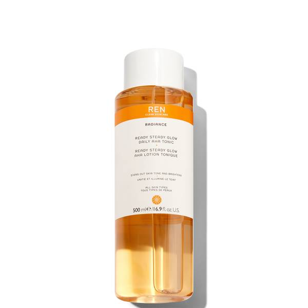 REN Clean Skincare Supersize Ready Steady Glow Daily AHA Tonic 500ml