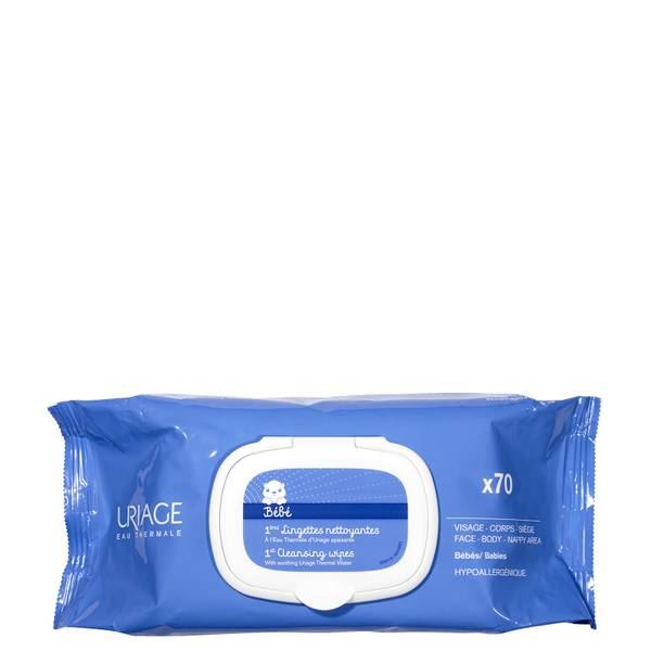 Uriage Baby 1st Cleansing Wipes x70
